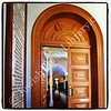 Memorial Road Synagogue, sanctuary door  Kimberley, South Africa