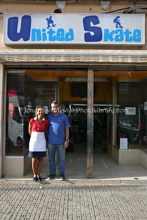 ES 767  Owners, United Skate shoe store  Melilla (Spain)