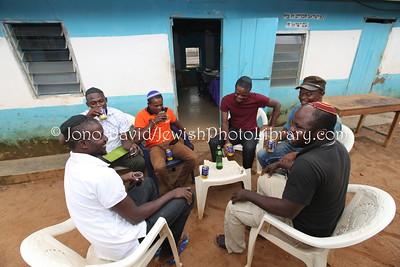 NG 445  Community meeting and members, at Tikvat Israel Synagogue, Kubwa, Abuja, Nigeria