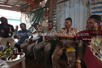 NG 435  Community meeting and members, at Tikvat Israel Synagogue, Kubwa, Abuja, Nigeria