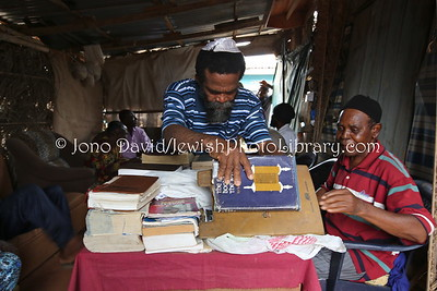 NG 426  Community meeting and members, at Tikvat Israel Synagogue, Kubwa, Abuja, Nigeria