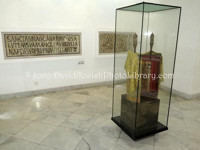 TN 77  Jewish mosaics and Torah, Jewish exhibition, Bardo National Museum  Tunis, Tunisia