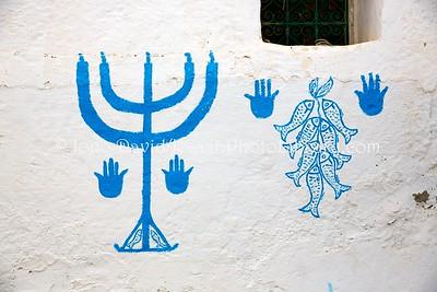 TN 686  Jewish-themed wall decorations  Zarzis, Tunisia