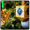 Hanukkah bush  Mystic Hotel lobby, San Francisco, CA, USA