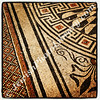 Mosaic floor, bath house, Ceasarea, Israel